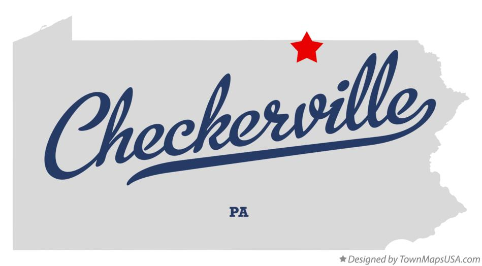 Map of Checkerville Pennsylvania PA