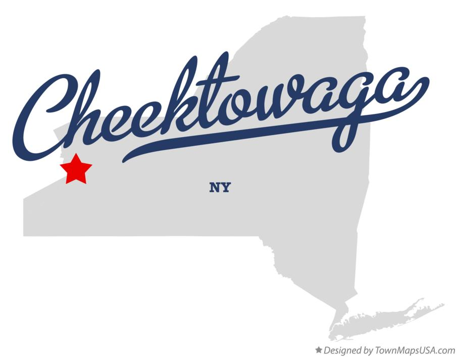 Map of Cheektowaga New York NY