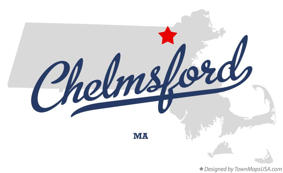Map of Chelmsford Massachusetts MA
