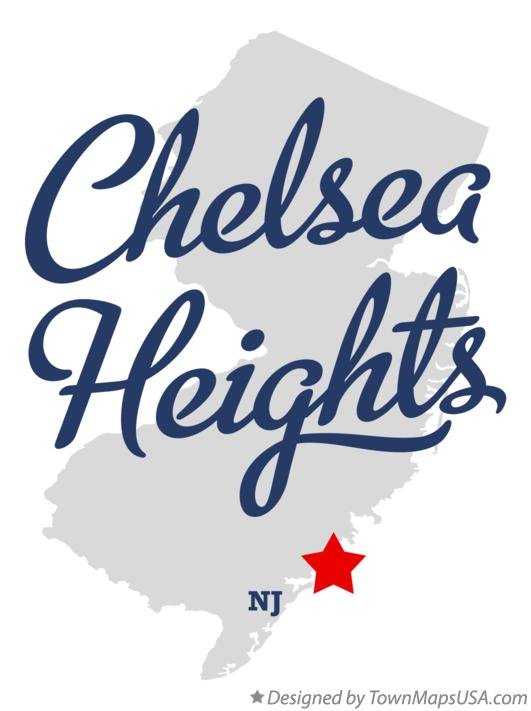 Map of Chelsea Heights New Jersey NJ