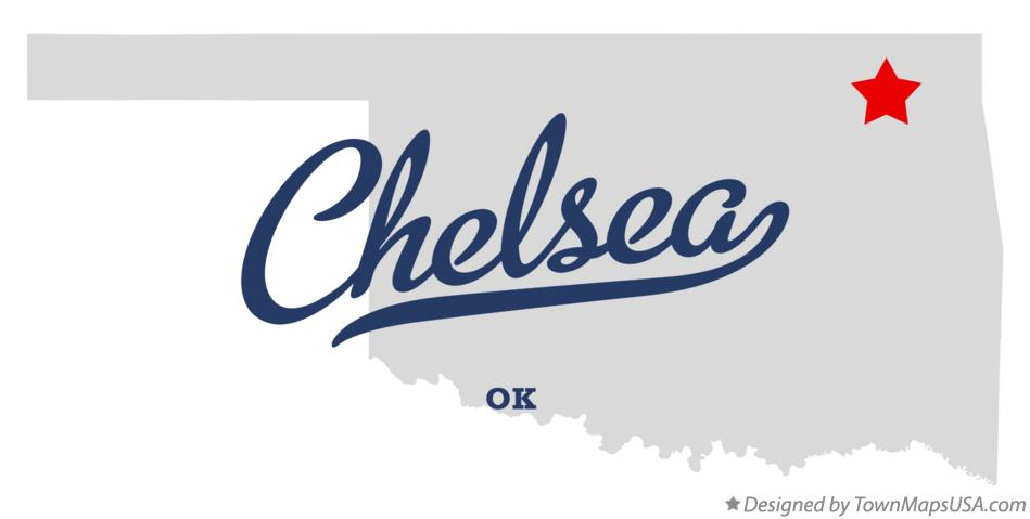 Map of Chelsea Oklahoma OK