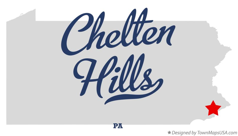 Map of Chelten Hills Pennsylvania PA
