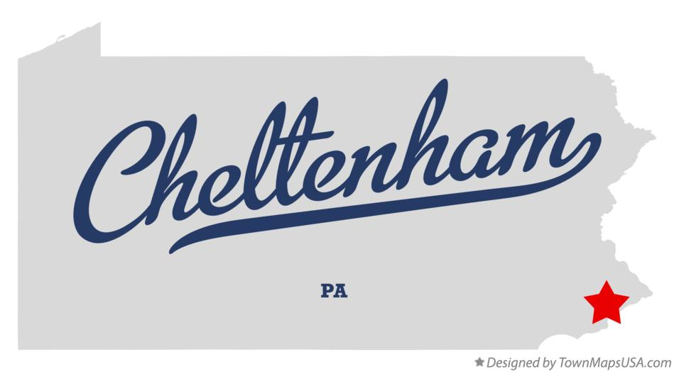 Map of Cheltenham Pennsylvania PA