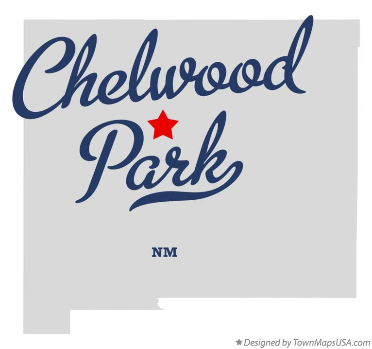 Map of Chelwood Park New Mexico NM