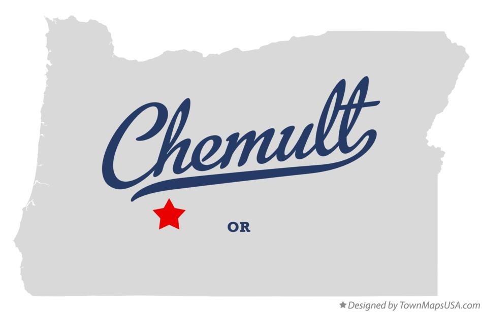 Map of Chemult Oregon OR