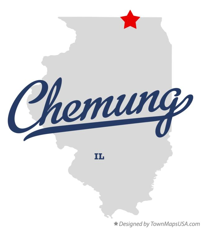 Map of Chemung Illinois IL