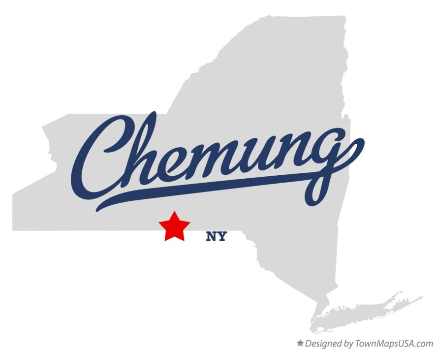 Map of Chemung New York NY