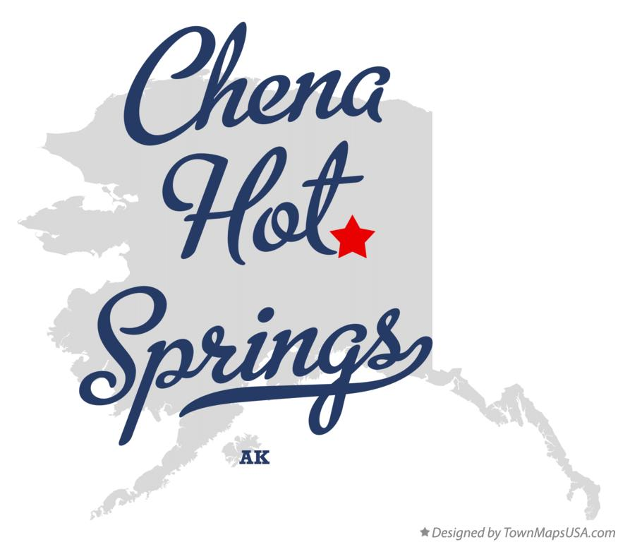 Map of Chena Hot Springs Alaska AK