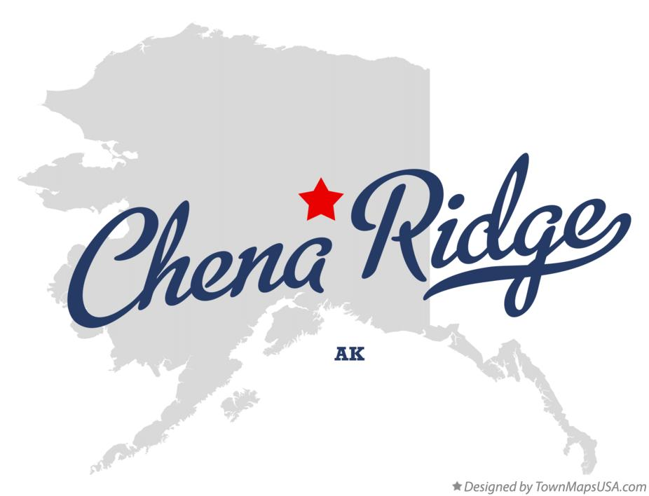 Map of Chena Ridge Alaska AK