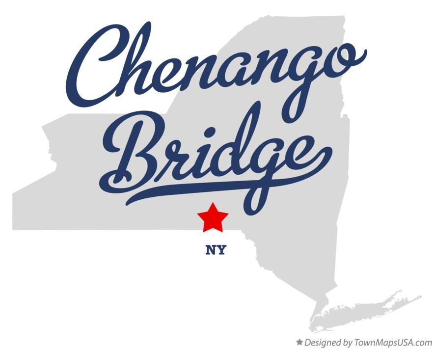 Map of Chenango Bridge New York NY