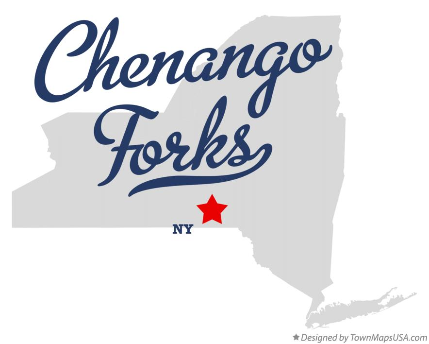 Map of Chenango Forks New York NY