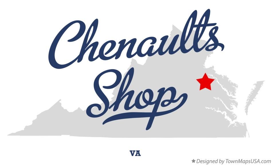 Map of Chenaults Shop Virginia VA