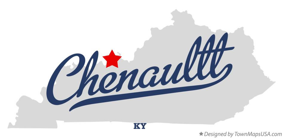 Map of Chenaultt Kentucky KY