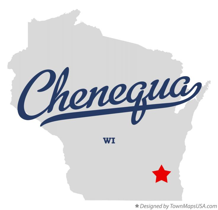 Map of Chenequa Wisconsin WI