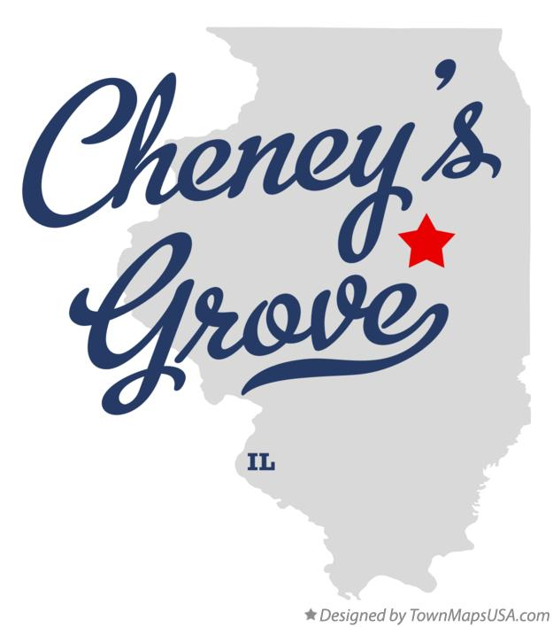Map of Cheney's Grove Illinois IL