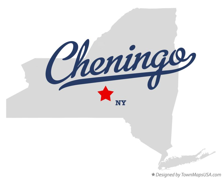 Map of Cheningo New York NY