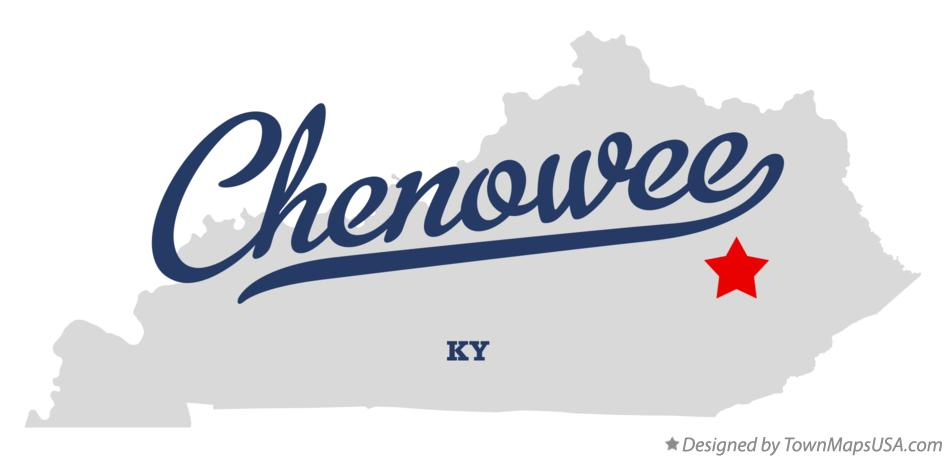 Map of Chenowee Kentucky KY
