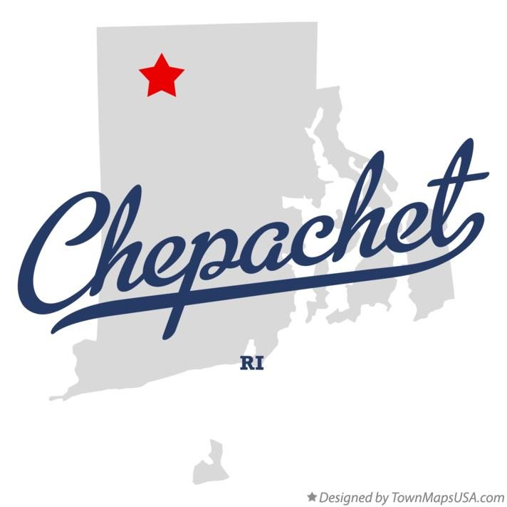 Map of Chepachet Rhode Island RI