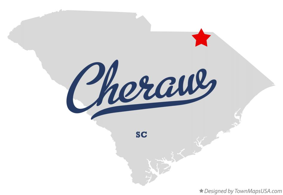 Map of Cheraw South Carolina SC