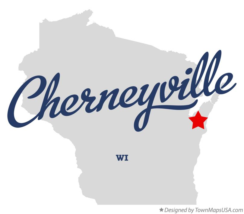 Map of Cherneyville Wisconsin WI