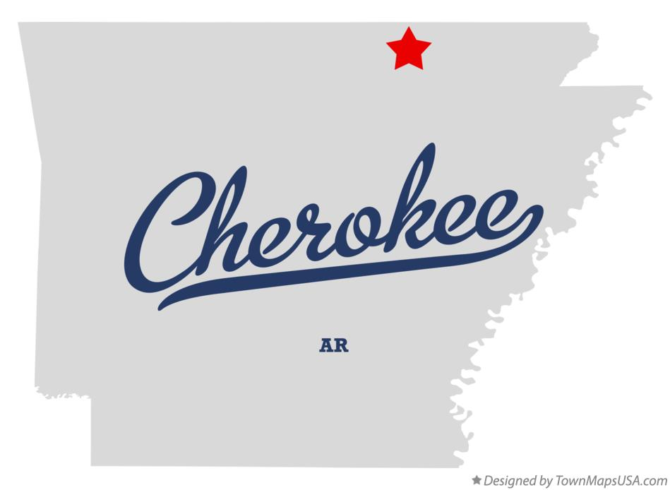 Map of Cherokee Arkansas AR