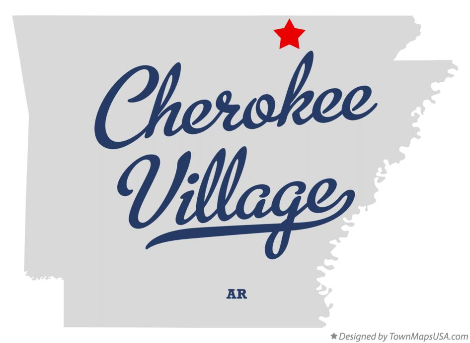 Map Of Cherokee Village Ar Arkansas