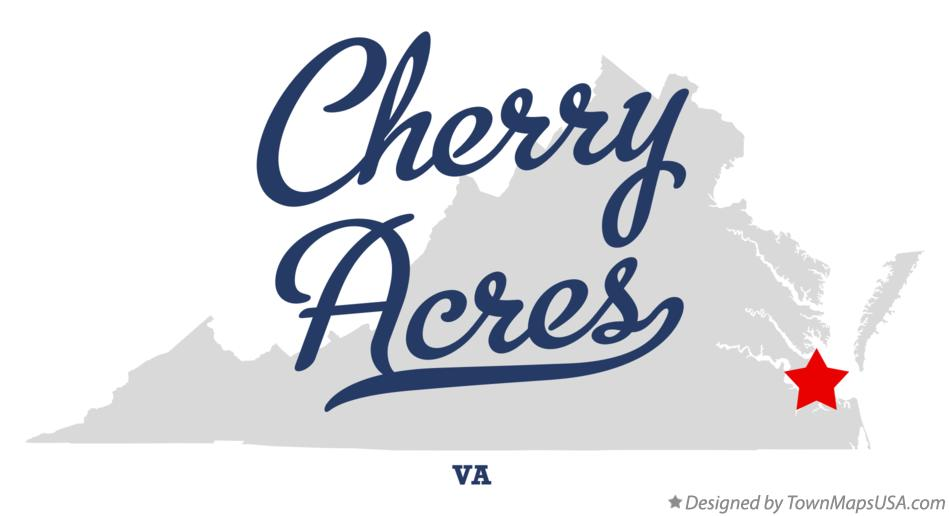 Map of Cherry Acres Virginia VA