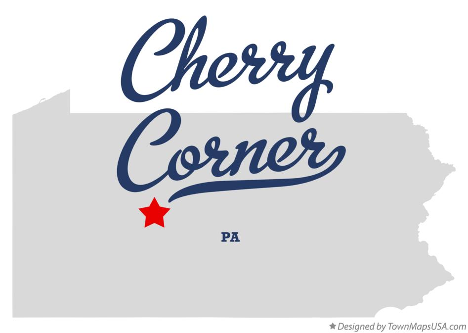 Map of Cherry Corner Pennsylvania PA
