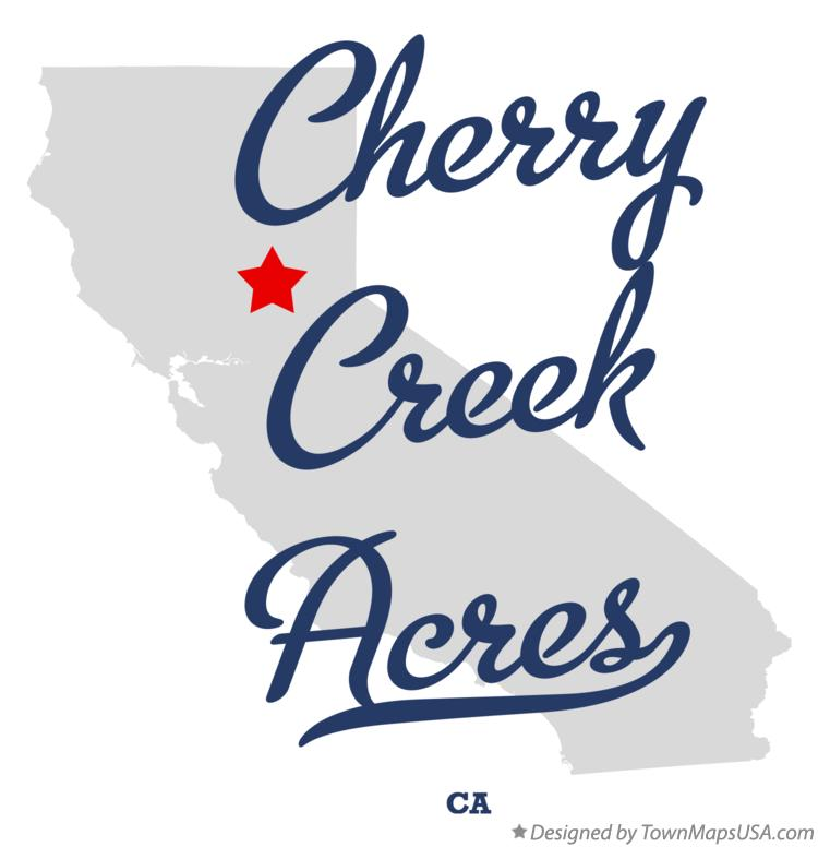 Map of Cherry Creek Acres California CA