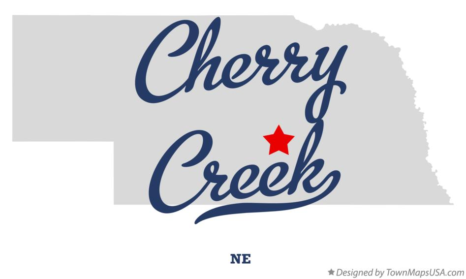Map of Cherry Creek Nebraska NE