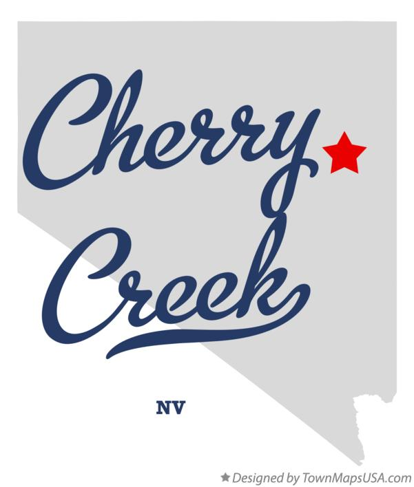 Map of Cherry Creek Nevada NV
