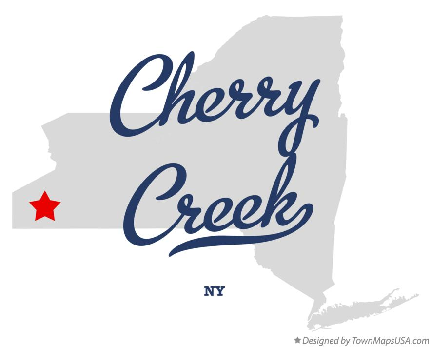 Map of Cherry Creek New York NY