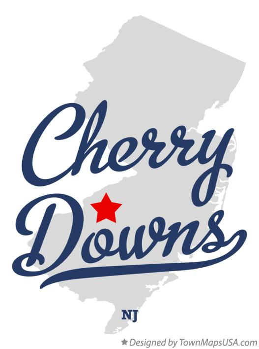 Map of Cherry Downs New Jersey NJ