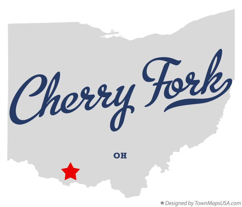 Map of Cherry Fork Ohio OH
