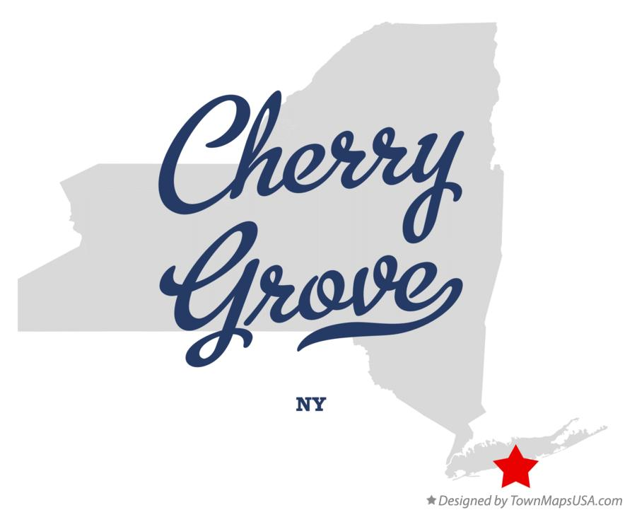 Map of Cherry Grove New York NY