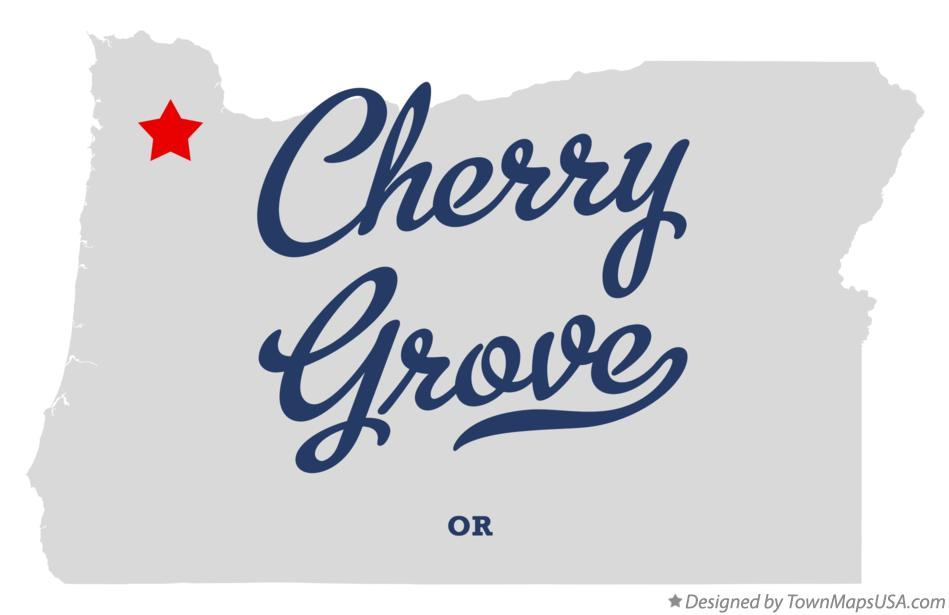 Map of Cherry Grove Oregon OR