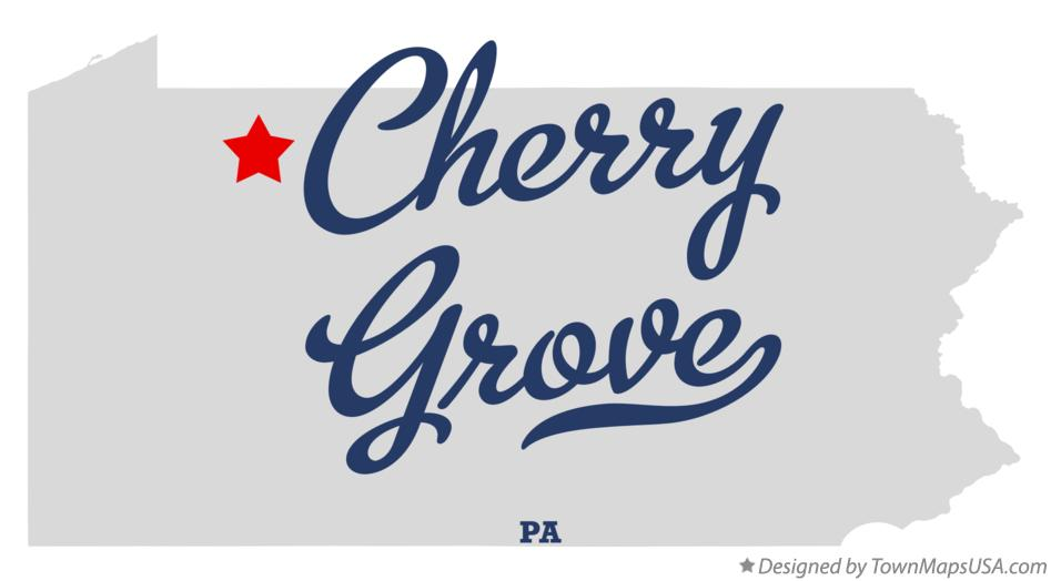 Map of Cherry Grove Pennsylvania PA