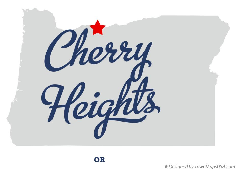 Map of Cherry Heights Oregon OR