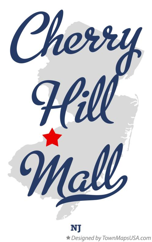 Map of Cherry Hill Mall New Jersey NJ