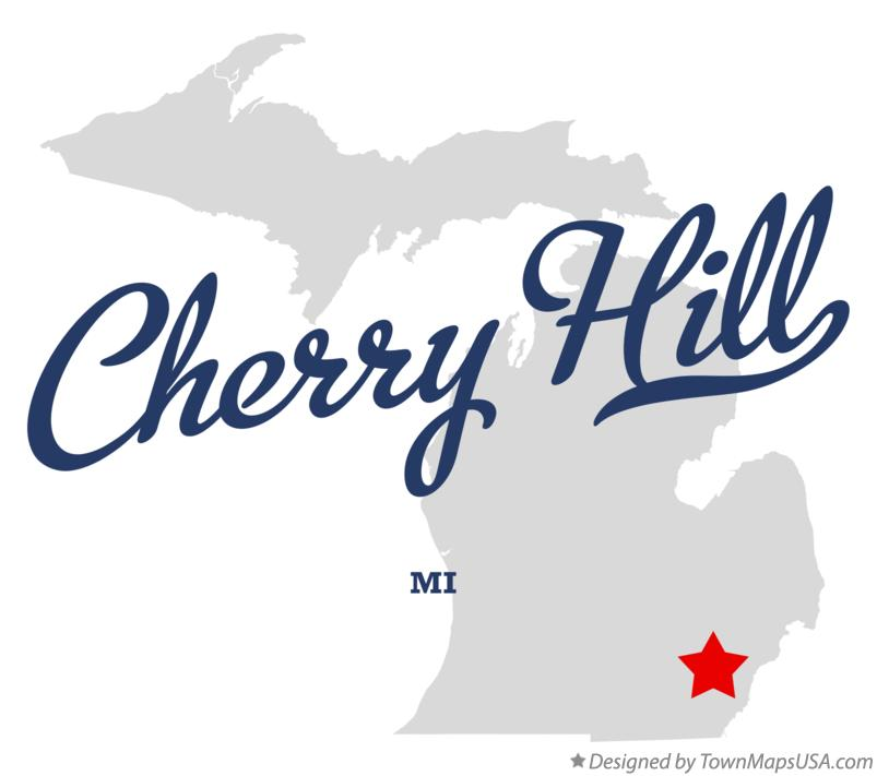 Map of Cherry Hill Michigan MI