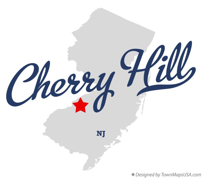 Map of Cherry Hill New Jersey NJ