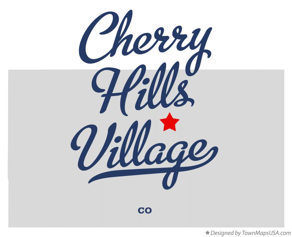 Map of Cherry Hills Village Colorado CO
