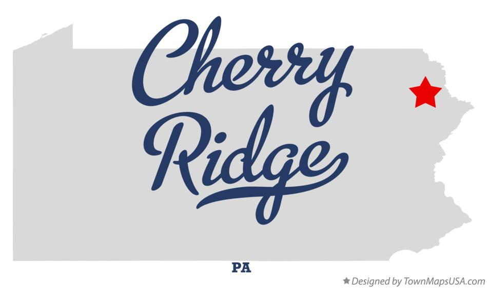 Map of Cherry Ridge Pennsylvania PA