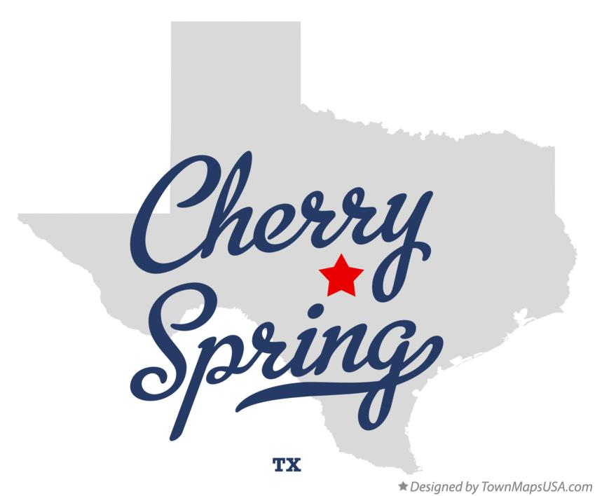 Map of Cherry Spring Texas TX