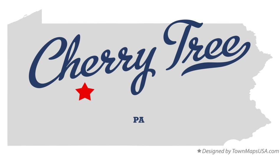 Map of Cherry Tree Pennsylvania PA