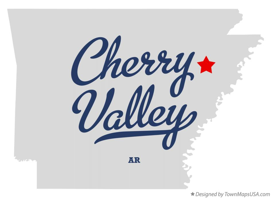 Map of Cherry Valley Arkansas AR