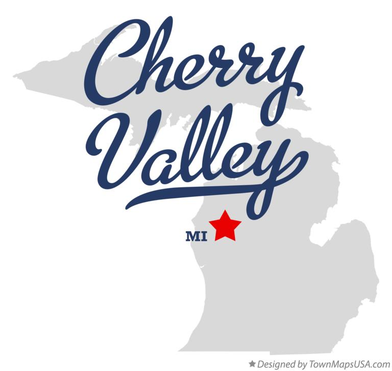 Map of Cherry Valley Michigan MI