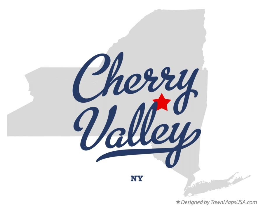 Map of Cherry Valley New York NY