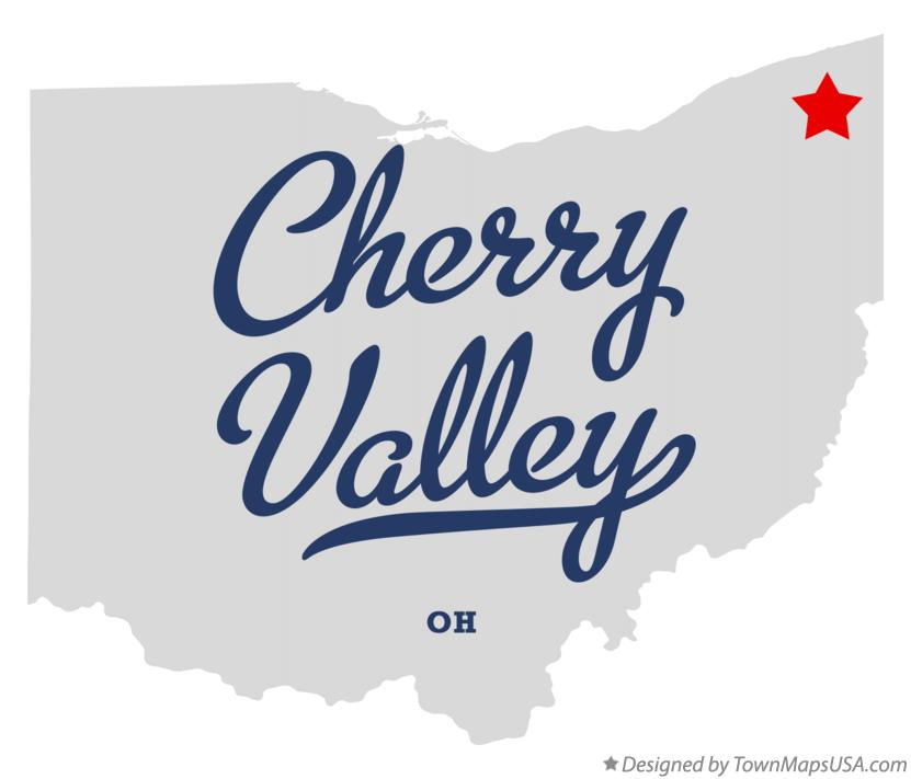 Map of Cherry Valley Ohio OH