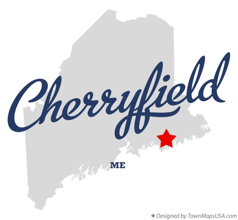 Map of Cherryfield Maine ME
